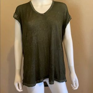 Lightweight FREE PEOPLE Green Shirt XS